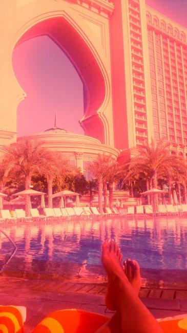 By the pool, Atlantis, The Palm, Dubai