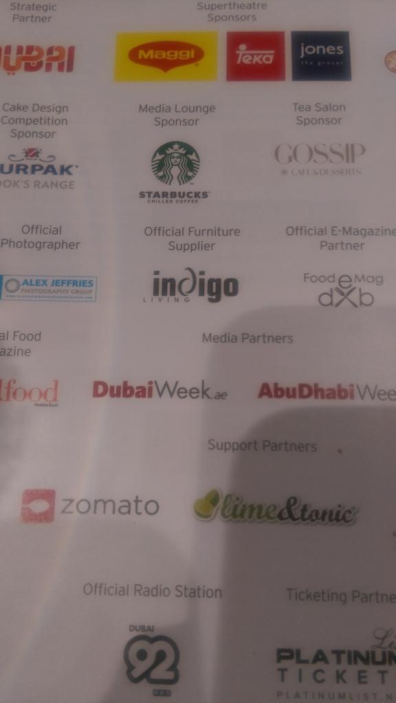 Good food show Dubai sponsors
