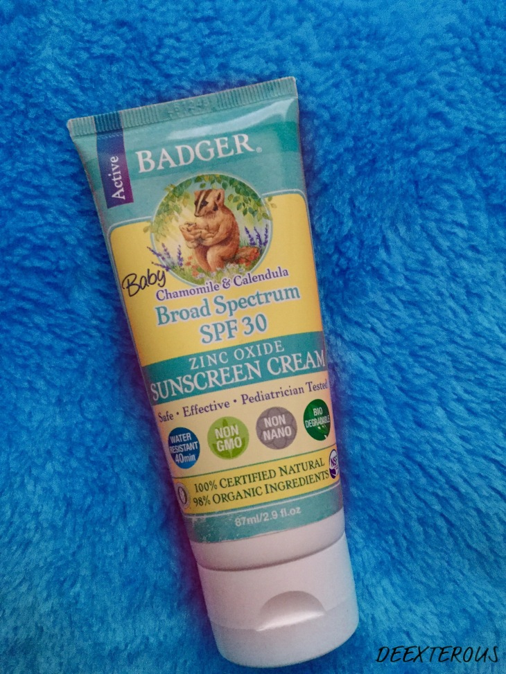 Baby Badger sunscreen cream with SPF 30