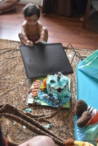 I'm going to smash the chalkboard as well! Fun at the jungle theme indoor outdoor cake smash