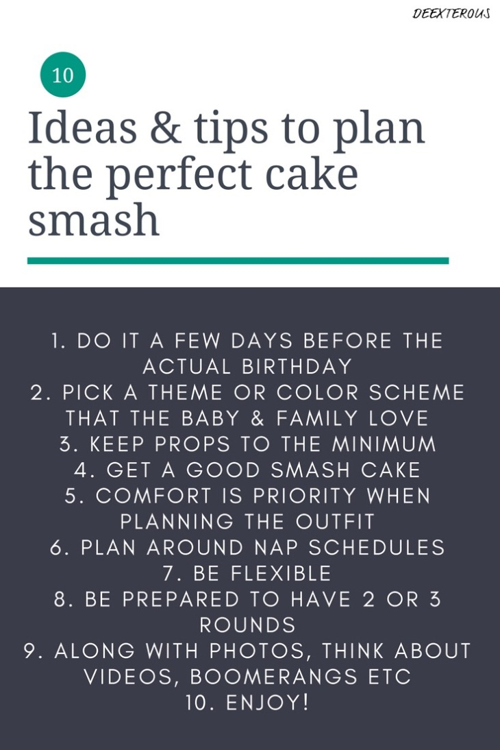 10 ideas & tips to plan the perfect cake smash