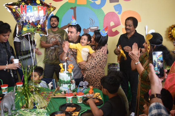 Jungle theme birthday party celebration