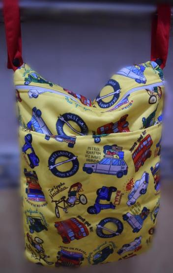 Super bag - a wet bag to store used diapers by Super bottoms cloth diaper India