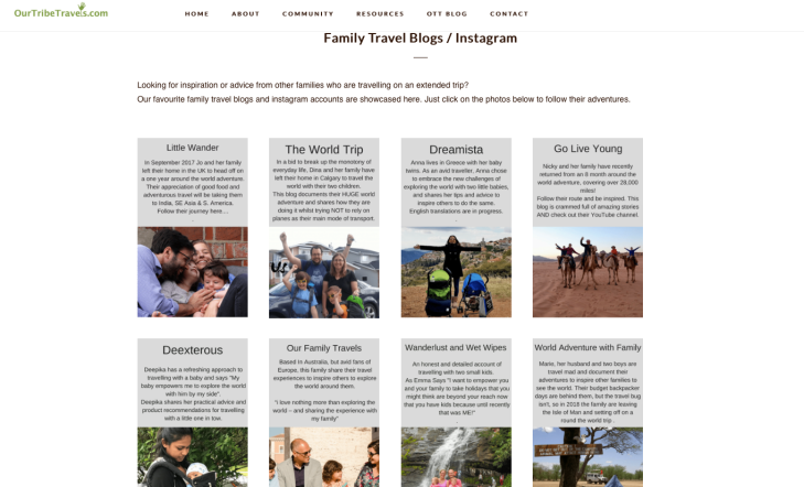 Deexterous is now listed as part of the family travel blogs on Our tribe travels